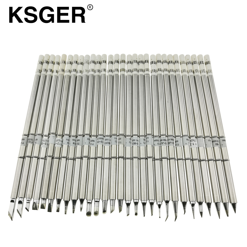 KSGER T12 Electric Soldering Iron Tips T12 K B2 BC2 ILS JL02 D24 KF For Hakko fx951 DIY Soldering Station Kits Electric Soldering Irons Tools - AliExpress