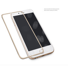 0 26mm Aluminum alloy Premium Tempered Glass Screen Protector for iphone 6 4 7 3D Surface