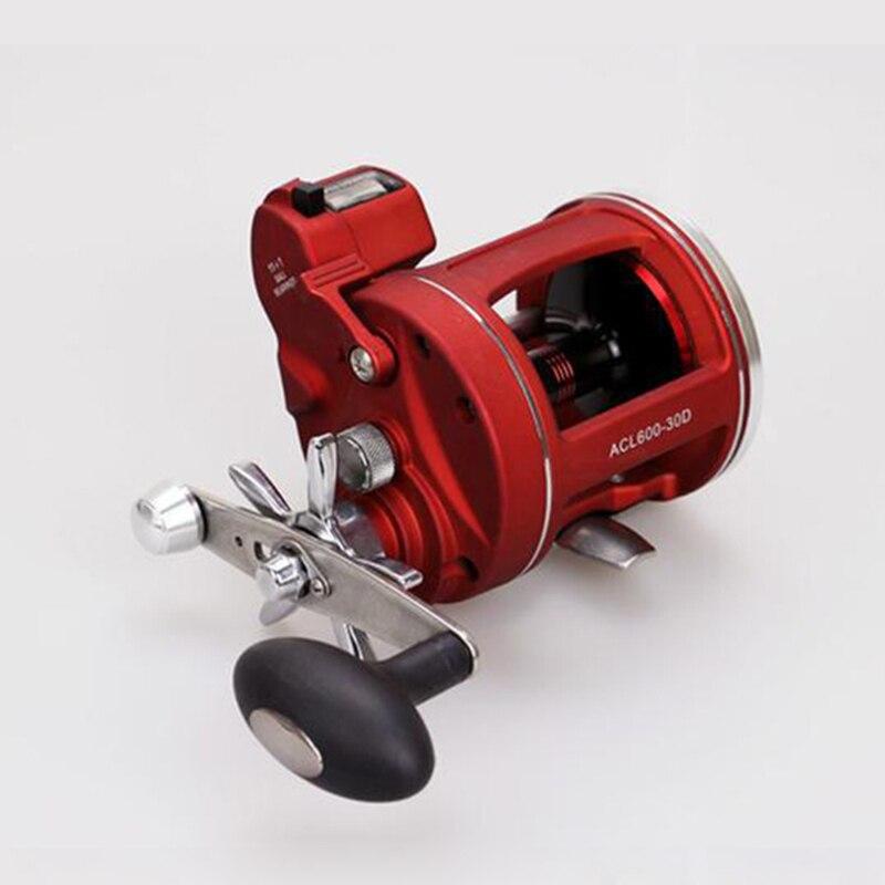 2017 новые красные правой Левая рука Наживка литья Рыбалка катушка со счетчиком 12BB высокопрочный корпус литой барабан колеса