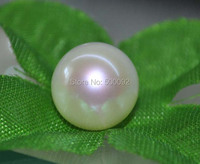 AAA 11 11.5MM ROUND PEARL HALF DRILLED FRESHWATER PEARL JEWELRY