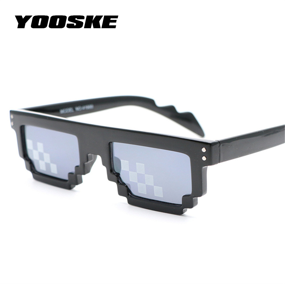 c17cb28696505 Thug Life YOOSKE Lidar Com Isso Óculos Homens 8 Bit MLG Partido Óculos  Mosaic Pixel Pixelizada Óculos De Sol Das Mulheres Do Vintage Óculos