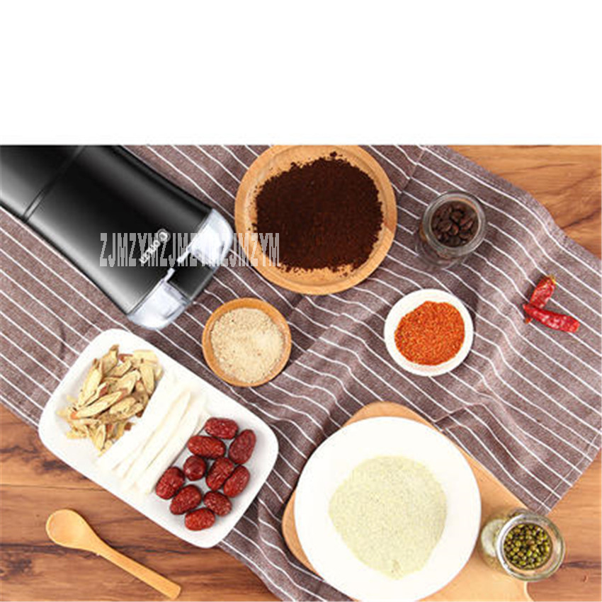 DL-MD18 Professional Commercial Household Coffee Grinder High Quality Electric Coffee Machine Advanced Grinding 220V/150W 50g bear 220 v hand held electric blender multifunctional household grinding meat mincing juicer machine