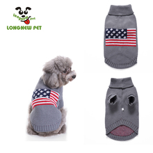 US Flag Color Pet Dog Sweater  Blue Color Without Hoodies Very Cute Dog Apparel For Small Medium Dog