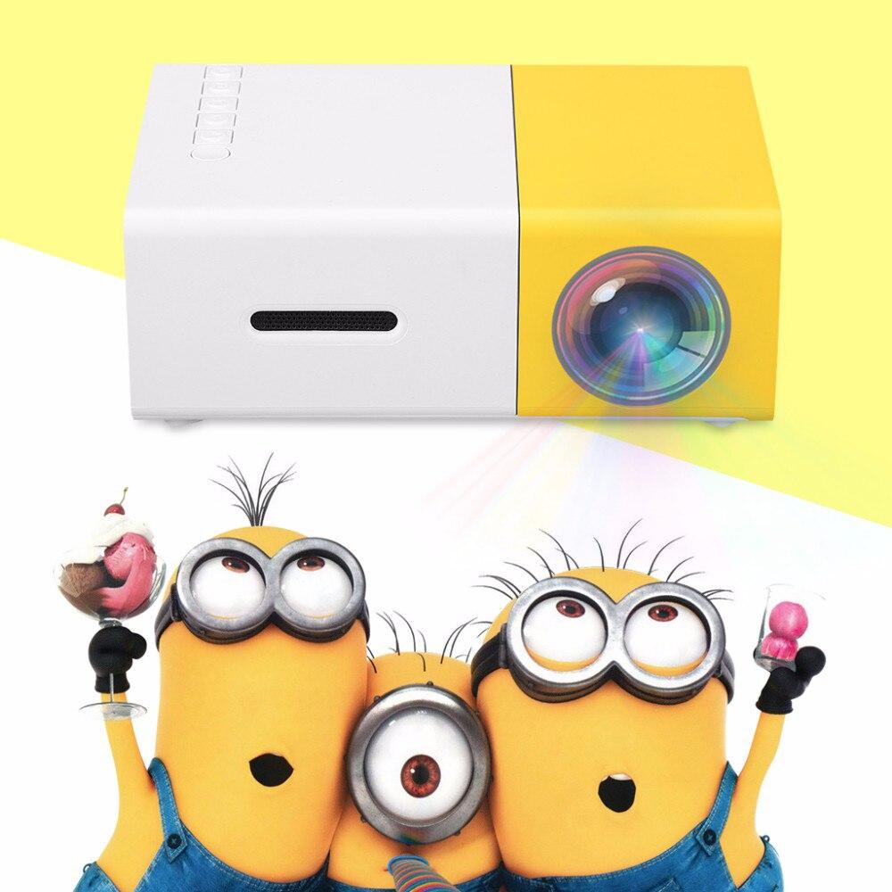 Prix pour YG300 YG-300 LCD Projecteur 600LM 1080 P Mini Portable HD film LCD Projecteur Pour Jeux Vidéo TV Home Cinéma Media Player