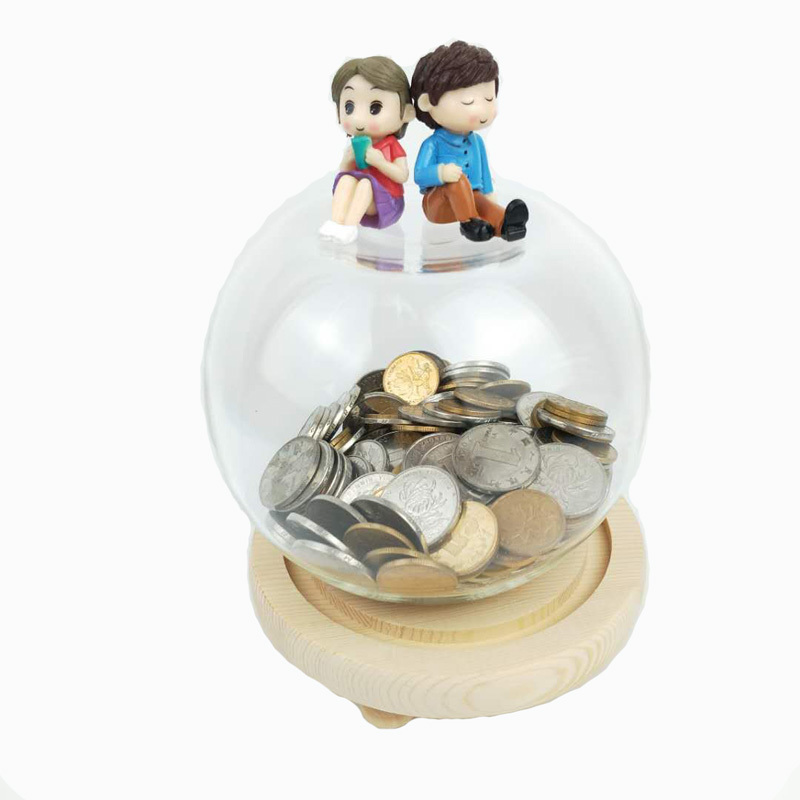 Cute Creative Glass Home Decoration Money Box  Small  Money Box Money-boxes Saving Bank Best Gift for Kid and Children 3DCXC10Cute Creative Glass Home Decoration Money Box  Small  Money Box Money-boxes Saving Bank Best Gift for Kid and Children 3DCXC10