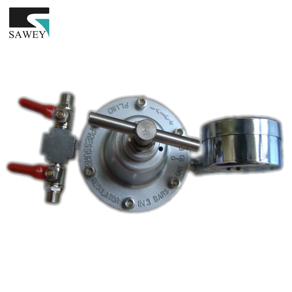 цена на Fluid paint Pressure Maintaining stabilizing Valve Regulator, adjustable gauge BIG FLOW, can be link with 2~6 spray guns