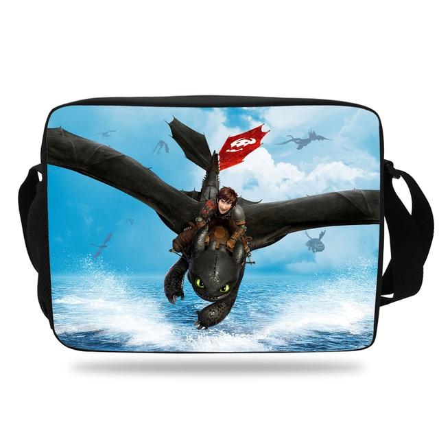 2017 Hot Sale Cartoon Messenger Bag for kids How to Train Your Dragon Children  Shoulder Bag Boy Girls School Messenger Bag