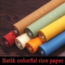 10 м* 35 см красочные рисовой бумаги для живописи и каллиграфии Сюань Чжи бумаги Книги по искусству школа поставка стационарный