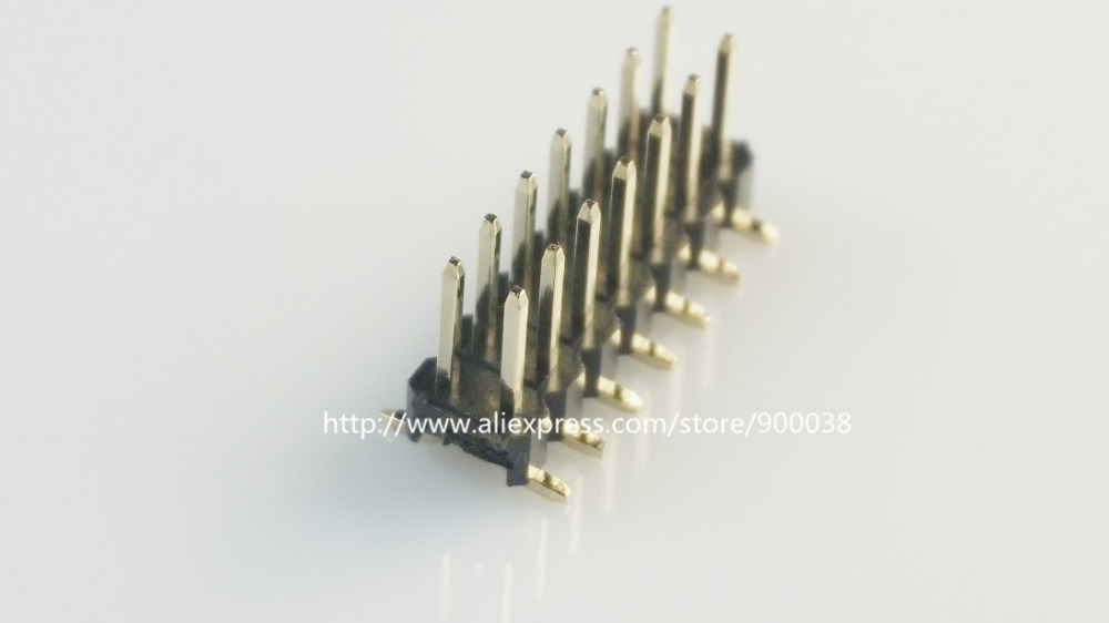100pcs 2x6 P 12 Pin 2.54 Mm Smt Pin Header Male Dual Row Surface Mount Pcb Tin Rohs Reach Two Rows No Locator Peg Cut By Hand To Have Both The Quality Of Tenacity And Hardness Connectors