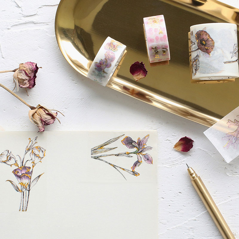 Hot Stamping Series 1.5cm-4cm Washi Tape Every Day Is Valentine's Day Children Diy Scrapbook Diary Decor Masking Tape Stationery