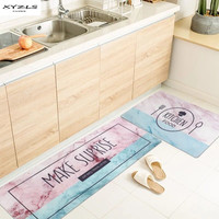 XYZLS Nordic Kitchen Mat PVC Marbling Printed Kitchen Rug Anti slip Waterproof Floor Mats Modern Doormat For Living Room 1PC