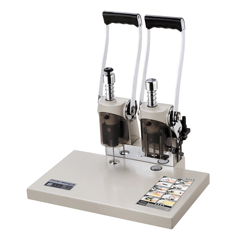 Financial voucher binding machine riveting pipe binding electric hot melt drilling machine Office supplies learning stationery