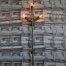 Водопровод Бра Старинные Ретро Стиле Лофт Industria Светильники Эдисон Бра Лестница Света для Украшения Дома