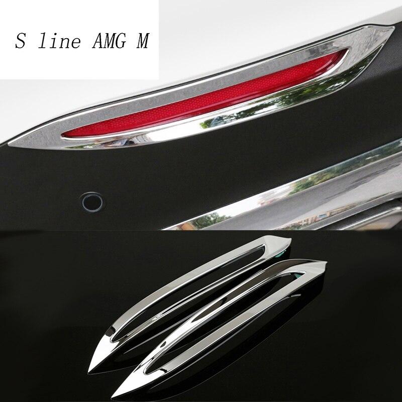 Car Styling Car Rear Fog Lamps Cover Grille Slats Fog