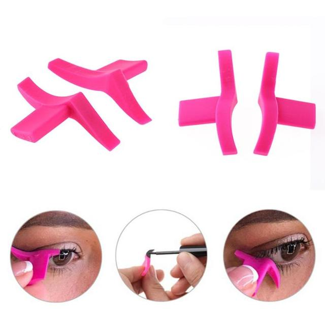 2pcs Classic  Winged Eyeliner Stamp Make up Stencil Classic and Dramatic 2 Pairs Eyeliner Template Tool Beauty Cosmetic Tool 2
