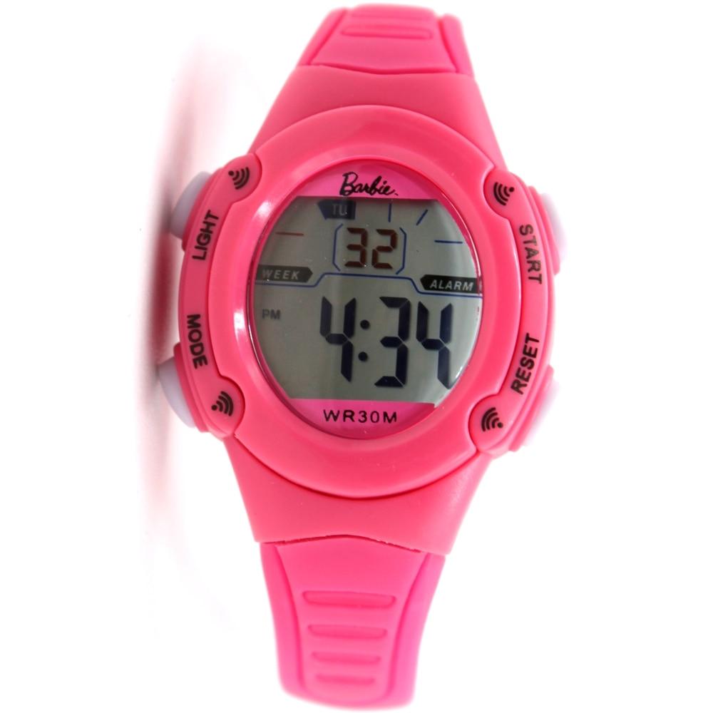 Chrildren Digital Good Watches For Girls Alarm Backlight Feature Elliptic Pink Kid s Watchcase BackLight Water