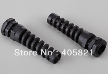 PG11 nylon bending proof spiral cable gland For 5-10mm Cable Range
