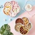 Ящик для орехов в скандинавском стиле для гостиной  креативный пластиковый отсек с крышкой  герметичный контейнер для сухофруктов и конфет ...