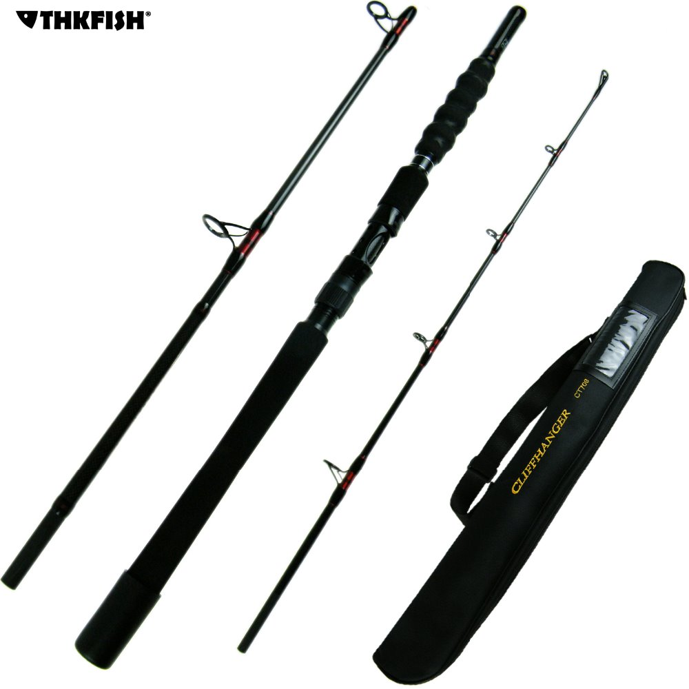 Carbon Fiber Boat Fishing Rod 1.8m 2.1m 70-250g Saltwater Rod Frame Heavy Duty Boat Rod Travel Fishing Rods Pole with Case Bag