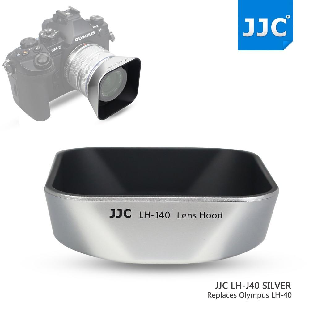 JJC LH-J40 SILVER Reversible Lens Hood Shade for Olympus M.ZUIKO DIGITAL 14-42mm 1:3.5-5.6 II R Replaces Olympus LH-40 Silver