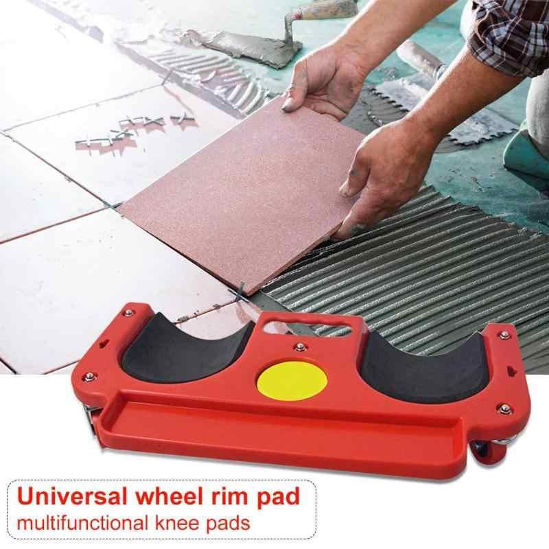 Rolling Lutut Perlindungan Pad dengan Roda Dibangun Di Busa Empuk Meletakkan Platform Roda Universal Berlutut Pad Multi-Fungsional Alat