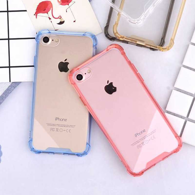sports shoes 31911 21a54 Full Body ShockProof Soft Clear Case for iphone XS MAX XsMax XR X 6 6s 7 8  Plus Hard PC+TPU Soft Silicone Transparent Cover