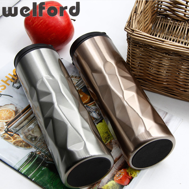 15.37OZ Double Wall Stainless Steel Coffee Cups Mugs for Car Thermal Bottle Thermocup Fashion Tumbler Vacuum Flask New Hot Sale