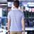 Ropa xxxl tamaño de alta calidad de los nuevos hombres camisas de polo de la marca rayas Gris polos Polos Camisa de Los Hombres Slim Fit Camisa Masculina camisas