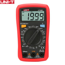 UNI-T UT33B+ Digital Multimeter Manual Range AC DC 200mV~600V Voltage Meter DC 10A Current Tester Resistance Meter