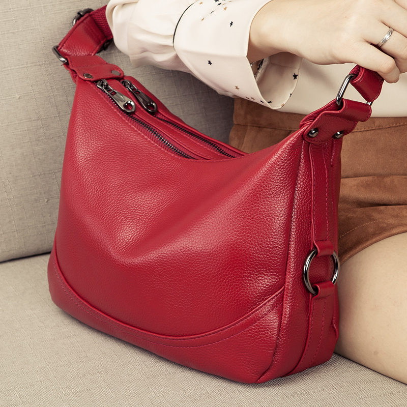 Genuine Leather Women s Bag Fashion Small Crossbody bags for women Shoulder Messenger Bag Luxury Handbag