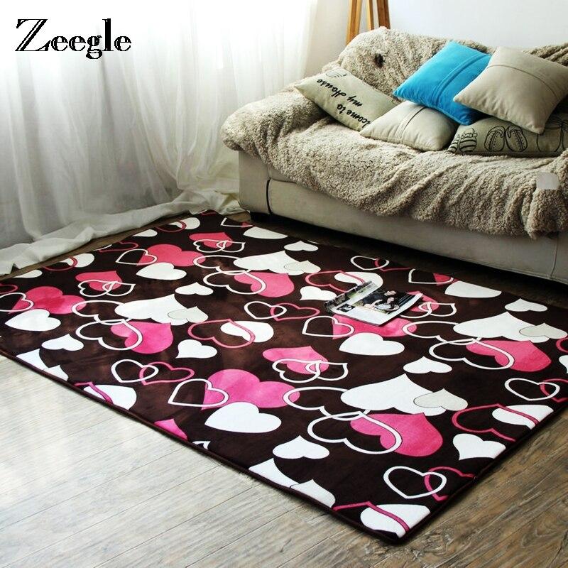 Zeegle Heart Matta för vardagsrummet bredvid golvmatta Slipfria Kök - Hemtextil