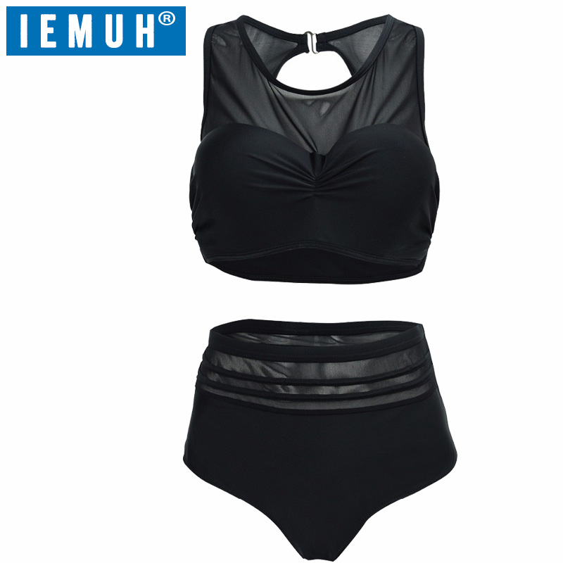 IEMUH Hot Sexy High Waist Bikinis Women Swimsuit Bathing Swim Suit Bikini Set Plus Size Swimwear XXL Biquini Brazilian swimwear hot push up bikinis women 2017 vintage sexy high waist bikini set swimsuit swimwear bathing suit beachwear plus size 4xl biquini