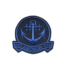 Custom Embroidery Patch Navy Blue Anchor Large Patch Nautical Ship Embroidered Iron On Applique