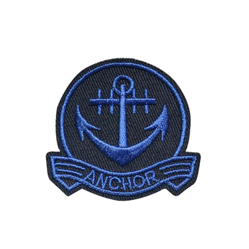 Custom Embroidery Patch Navy Blue Anchor Large Patch Nautical Ship Embroidered Iron On Applique image