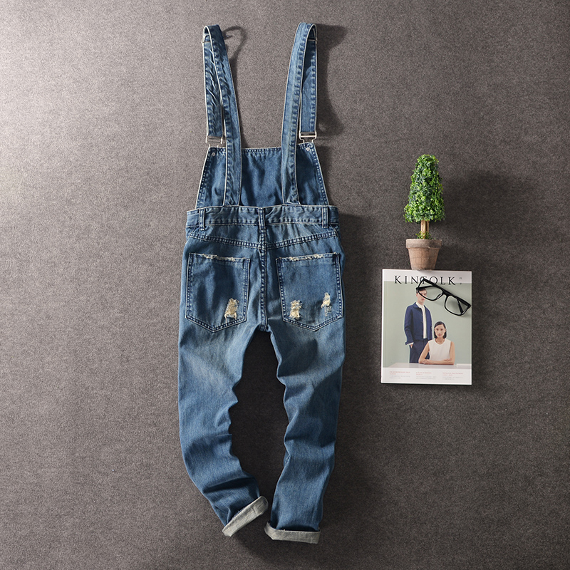 M-3XL!!!  2017 Men conjoined pair of jeans Cultivate one's morality men's feet cowboy nine points overall Han edition hole susp