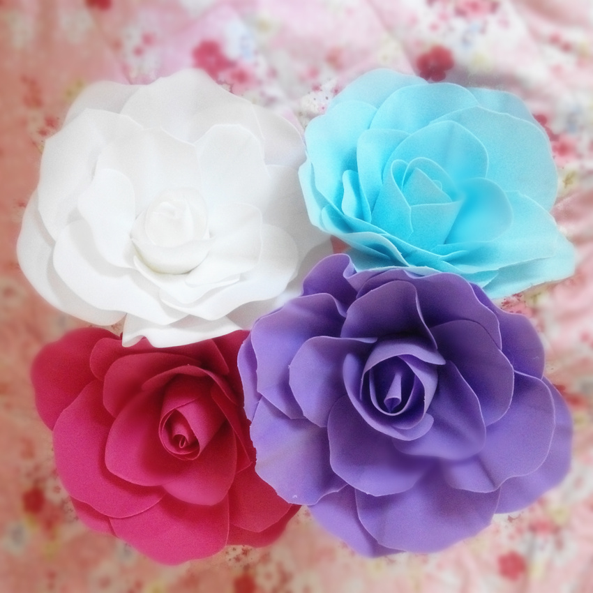 30cm Large Foam Rose Artificial Flower Wedding Decoration