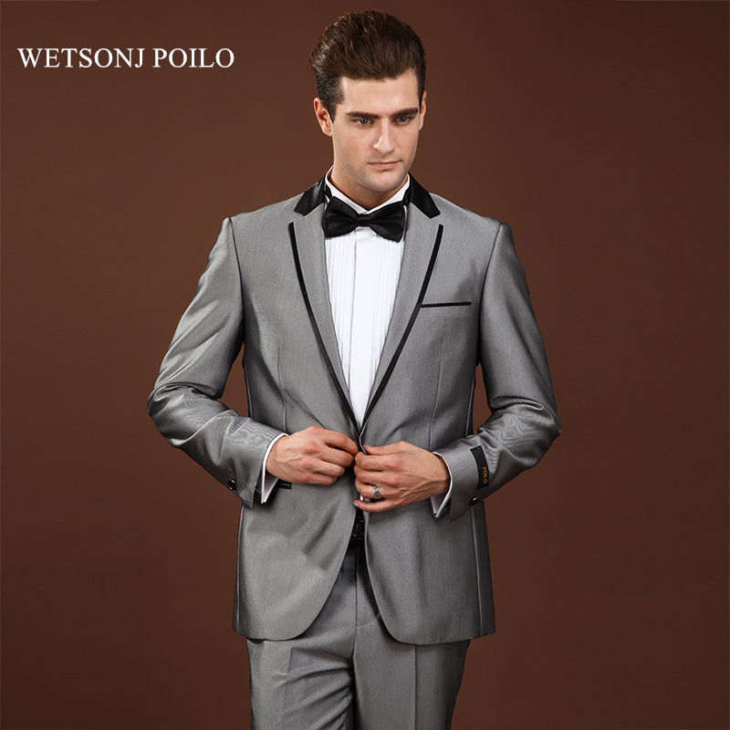1ba6dde3cc Latest Coat Pant Designs Mens Formal Wear Best Wedding Suits For Men Brand  Clothing Dark Gray ...