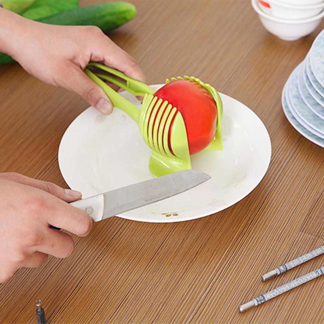 Tomato Slicer ABS Plastic Potato Cutter Kitchen Gadgets Lemon Orange Fruit Veget