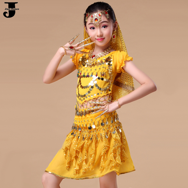 27d29c4eb0 2016 Girls Belly Dance Costume Set 5 Pcs Kids Indian Dance Costumes  Children Vestido Indiano Clothing For Belly Dancing DQ2019