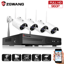 ZGWANG 960P 4CH NVR Kit Waterproof Outdoor Wifi Wireless IP Camera Kits Home Video Security Surveillance System CCTV Camera недорого