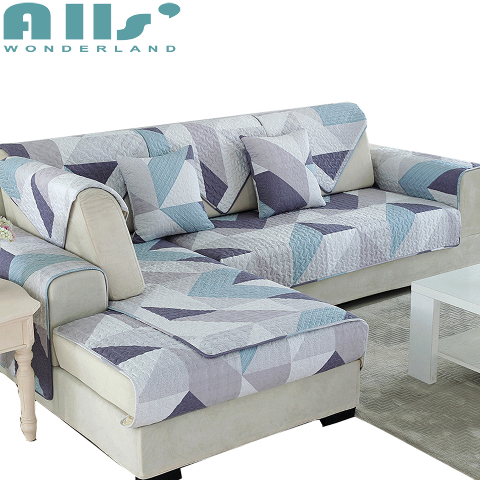 Sectional sofa cover 1pc furniture covers with geometric pattern fashion decoration for living room 100 cotton couch slipcover christmas holiday