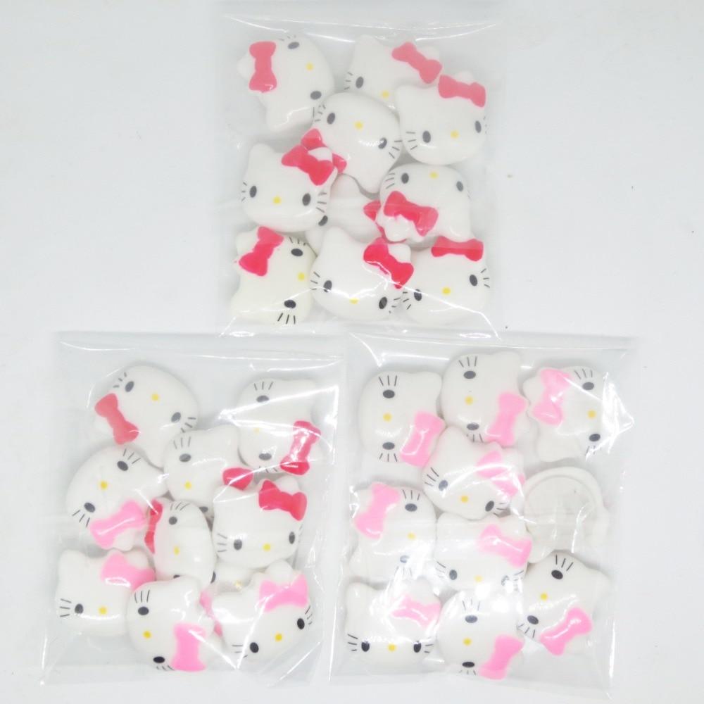 Купить с кэшбэком 10 pcs/set  Novel Creative Hello KT cat DIY Acrylic stationery sticker Office School Supplies Girl gift Decorative sticker