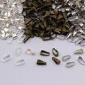 (Min Order 5$)4 colors 300PCS/LOT Pendant Clips & Pendant Clasps, Pinch Clip Bail Pendant Connectors . Jewelry Findings DIY
