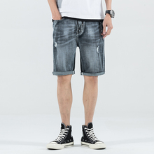 Summer Stretch Thin high quality cotton Denim Jeans male Short Men  black Soft fashion casual Shorts Pants Plus Size 28-36 2016 summer brand mens jeans shorts plus size black blue stretch thin denim jeans short for men pants free shipping page 1