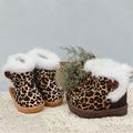 Сезон Распродажа! Мода Дети Shoes Зимние Теплые Ботинки Снега для мальчиков и девочек случайные shoes baby Leopard дети boot shoes