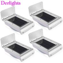 4pcs 16LED Solar Power Light PIR Infrared Motion Sensor Gard