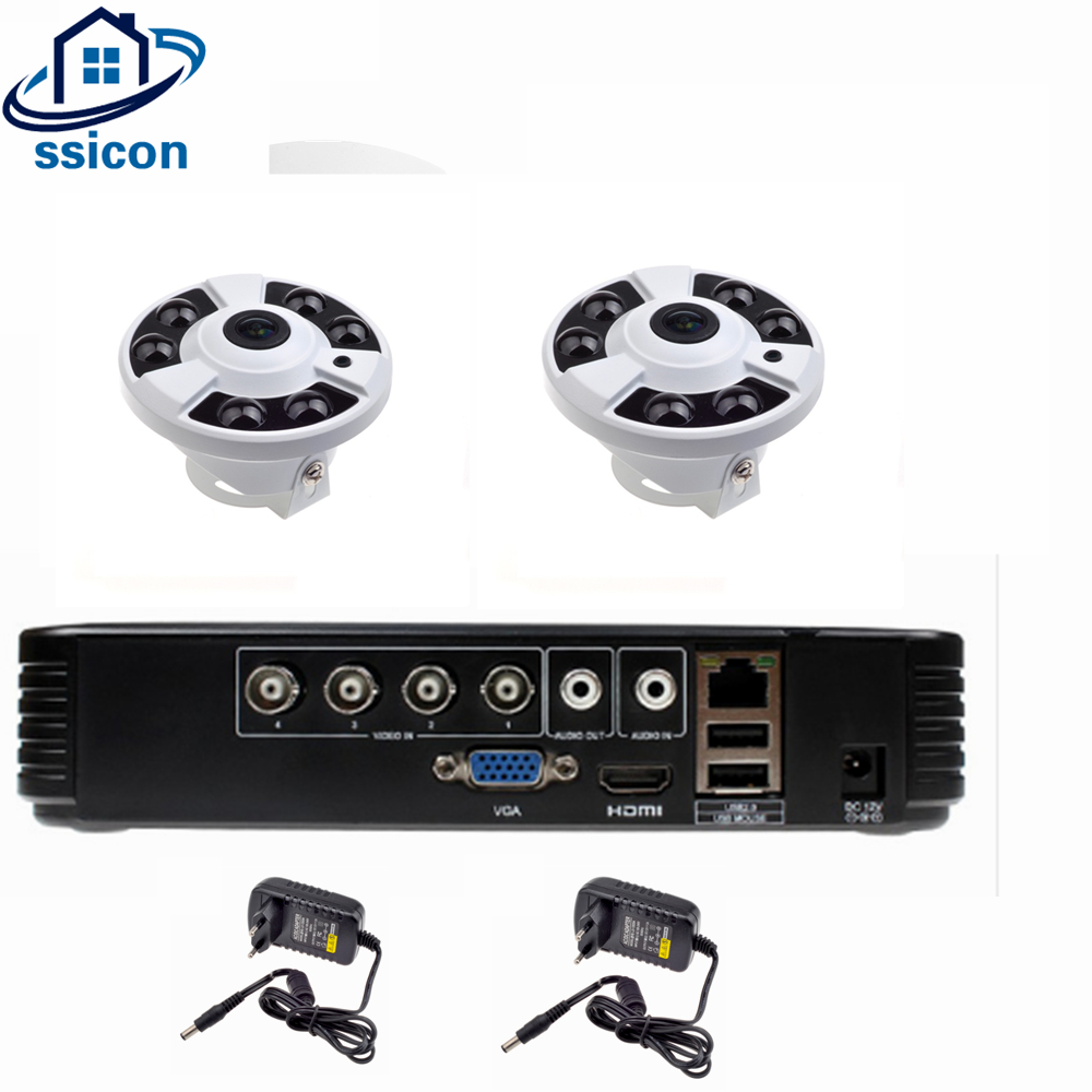 SSICON 4CH AHD 1080P DVR Security Camera System 2PCS 1080P Panoramic Fisheye 360 Degree Camera CCTV Home Surveillance DVR KitSSICON 4CH AHD 1080P DVR Security Camera System 2PCS 1080P Panoramic Fisheye 360 Degree Camera CCTV Home Surveillance DVR Kit