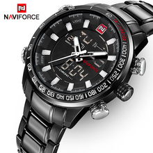 NAVIFORCE Top Brand Luxury Mens Watches Fashion Casual Sport Wristwatch Dual Display Date Clock Army Military Relogio Masculino