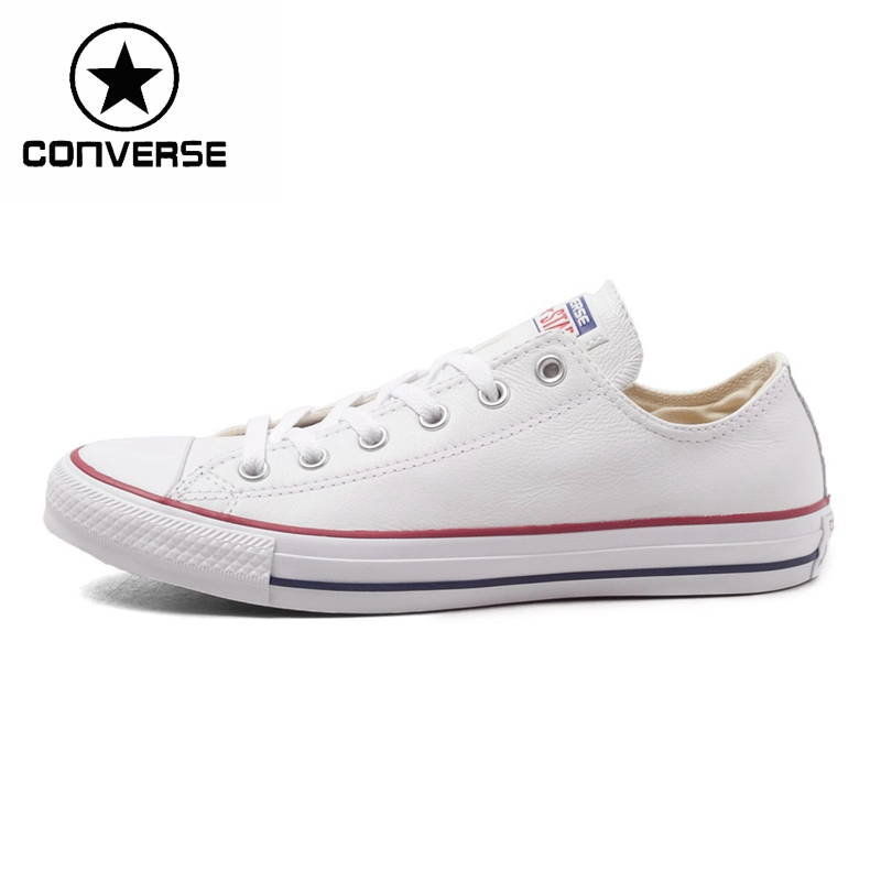 Original New Arrival 2018 Converse Unisex Classic Leather Skateboarding Shoes Low top Sneakser original new arrival converse classic kids skateboarding shoes low top canvas shoes sneakser