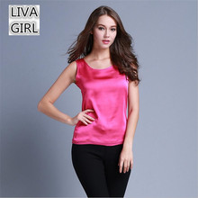Fahion imitated Silk Casual Tank Top For Women Summer Style Stweety Crop Tops Beauty Candy Color Womens Tops Fashion